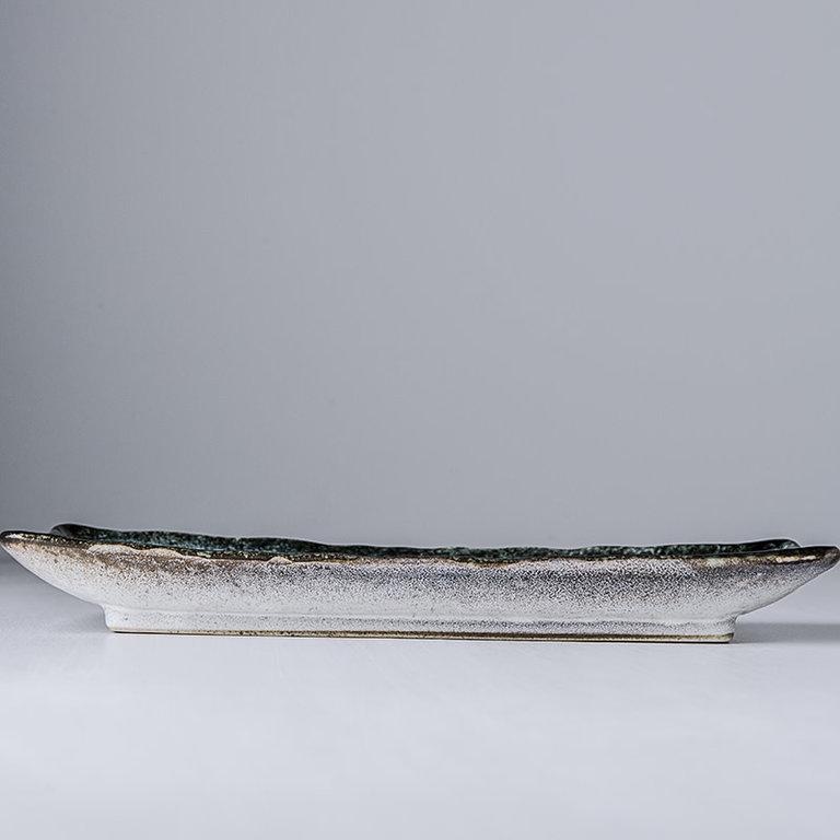 Sky Blue Sashimi plate rectangular 29cm x 12cm