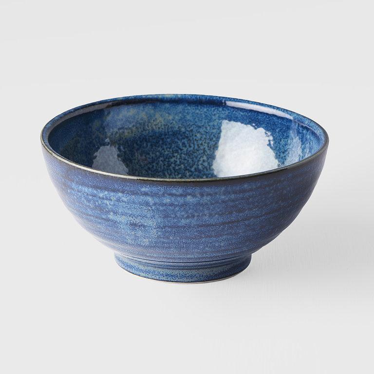 Indigo Blue bowl u shape 18cm x 9cm