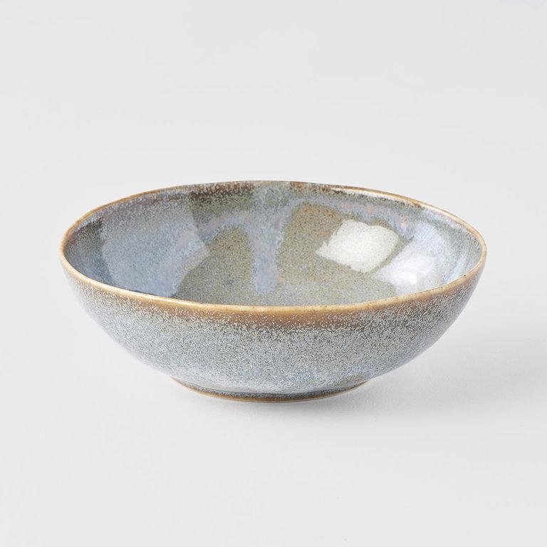 Steel Grey oval bowl small 14cm  x 13cm