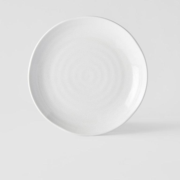 Parchment dinner plate uneven 24.5cm x 3cm