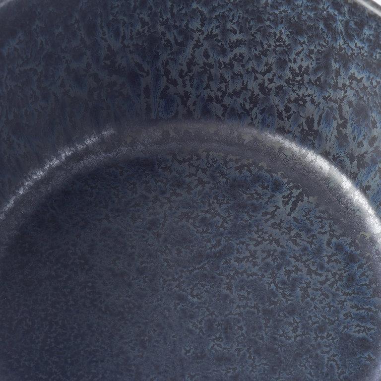 BB BLACK LIDDED BOWL PLASTIC LID 13D 6H