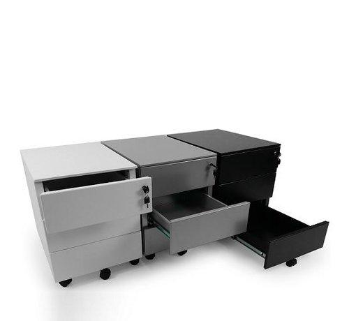 Ergonice Office Ergonomics Ergo-Rolblok Met Afsluitbare Laden