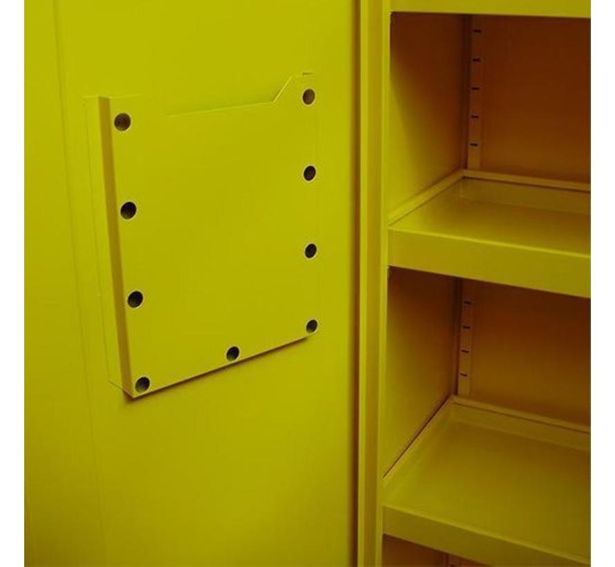 2-Deurs Veiligheidskast In De Kleur Geel RAL1021