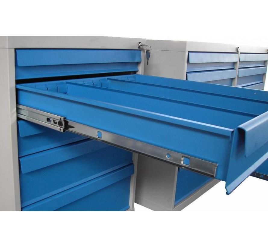 Verrijdbare Gereedschapswagen Met 5 Laden In De Kleur Grijs/Blauw