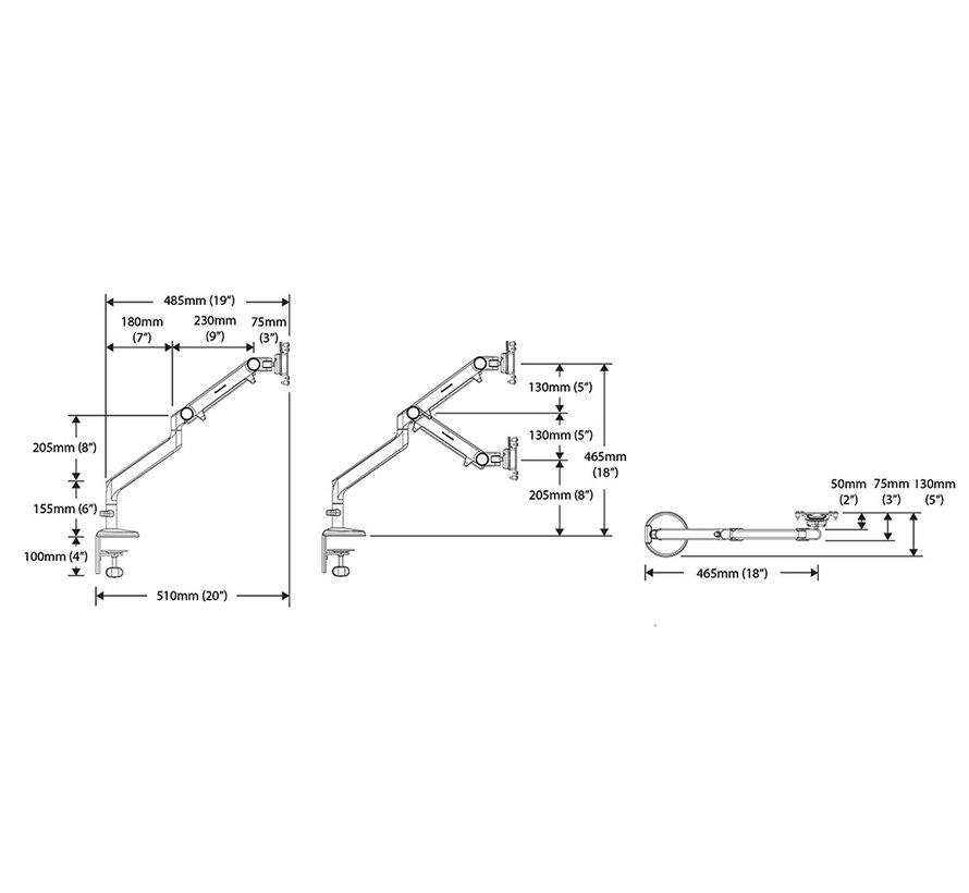 Humanscale M2 Monitorarm Met Mechanische Veer