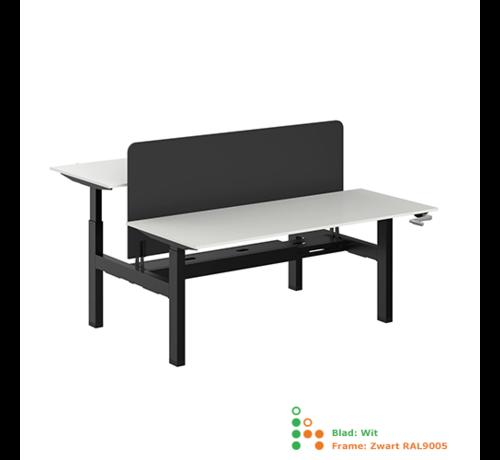 Ergonice Office Ergonomics Ergo-Duo-Move 115 Dubbel Handmatig Verstelbaar Zit-Sta Bureau