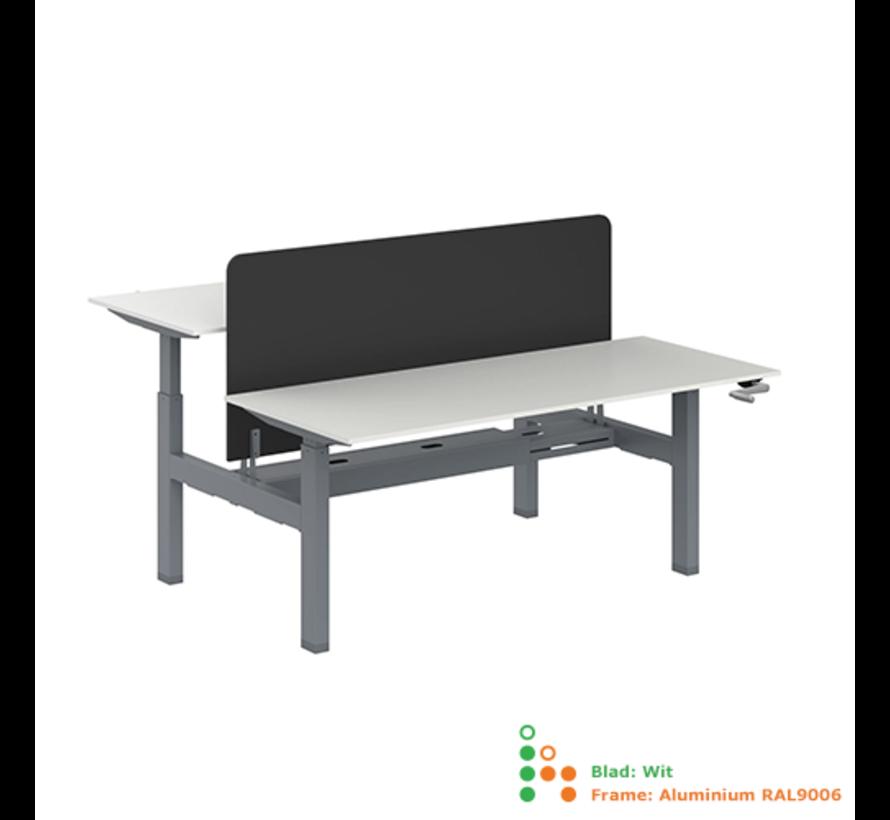 Ergo-Duo-Move 115 Dubbel Handmatig Verstelbaar Zit-Sta Bureau