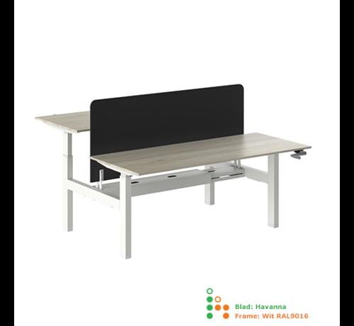 Ergonice Office Ergonomics Ergo-Duo-Move 88 Dubbel Handmatig Verstelbaar Bureau