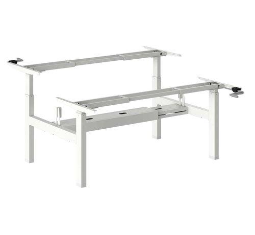 Ergonice Office Ergonomics Ergo-Duo-Move 115 Dubbel Handmatig Verstelbaar Zit-Sta Frame