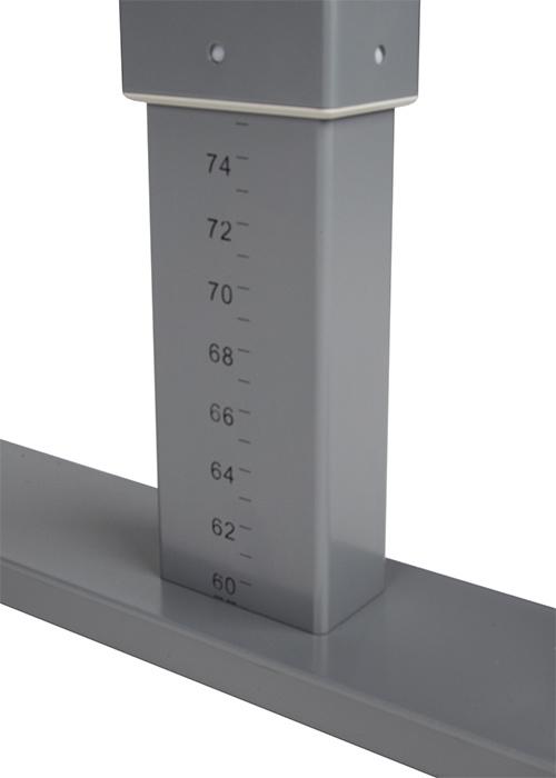 Met de hoogte indicatie zet je het bureau eenvoudig weer op de juiste zit- of stahoogte.