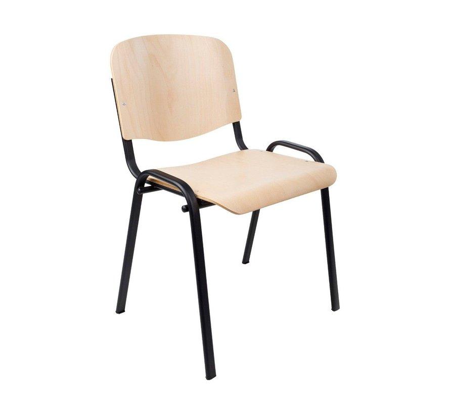 ISO Vergaderstoel / Kantinestoel Bekleed Met Hout