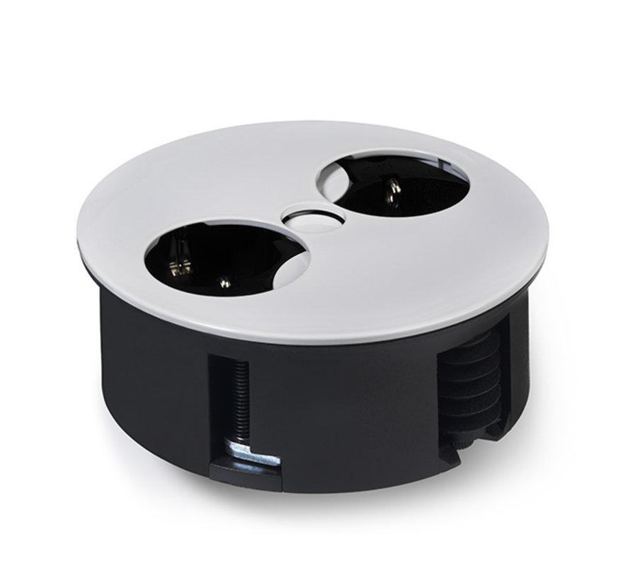 Bachmann Twist Inbouw Stopcontact Met 2x 230v Aansluiting