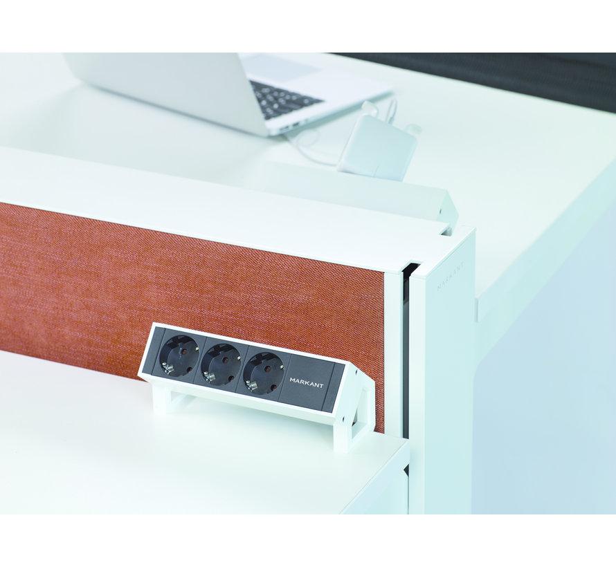 Max Hybrid Dubbel Zit-Sta Bureau Met Scheidingswand
