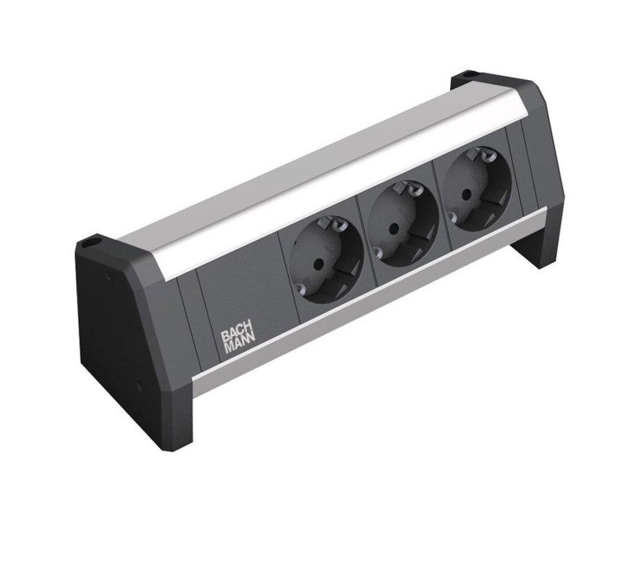 Bachmann Desk 1 Opbouw Stopcontact Met 3x 230V Stroom Aansluiting