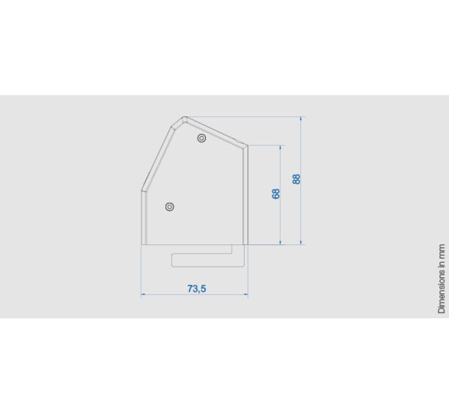 Bachmann Desk 1 Opbouw Stopcontact Met 2x 230V Stroom Aansluiting En 1 Custom Module