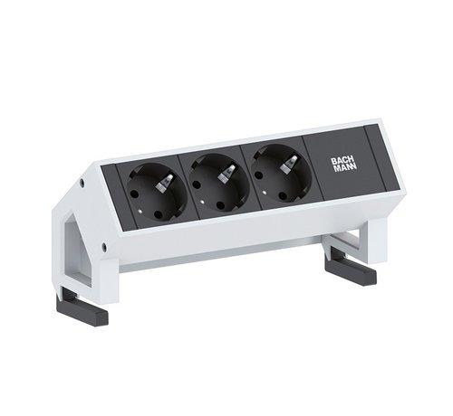 Bachmann Bachmann Desk 2 Opbouw Stopcontact Met 3x 230V Stroom Aansluiting