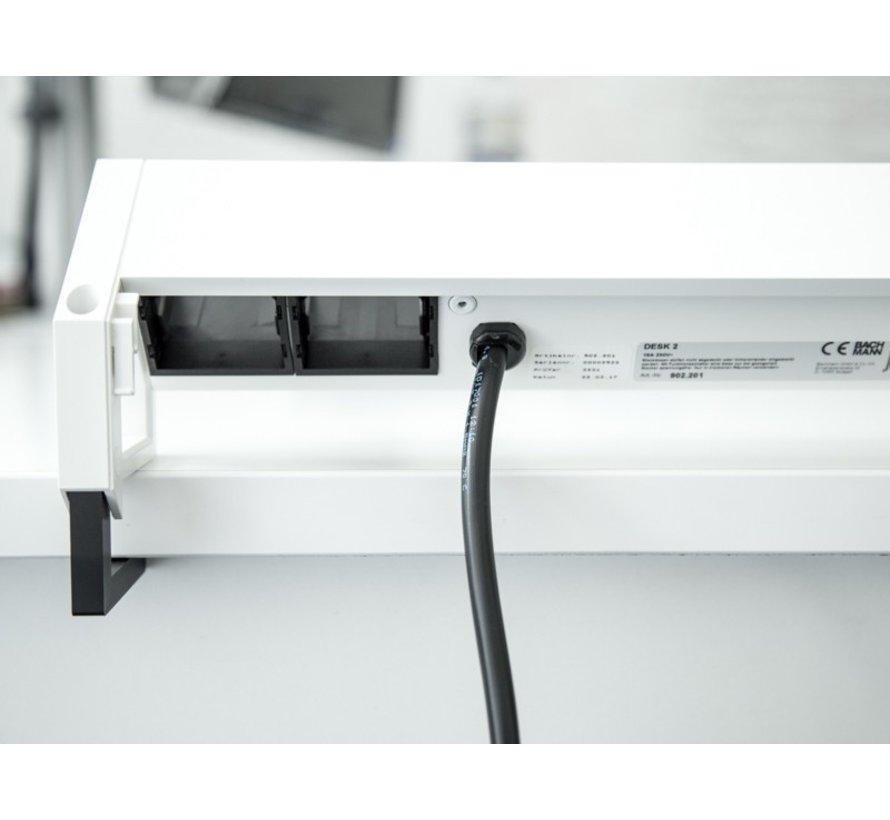 Bachmann Desk 2 Opbouw Stopcontact Met 2x 230V Stroom Aansluiting En 1 Custom Module