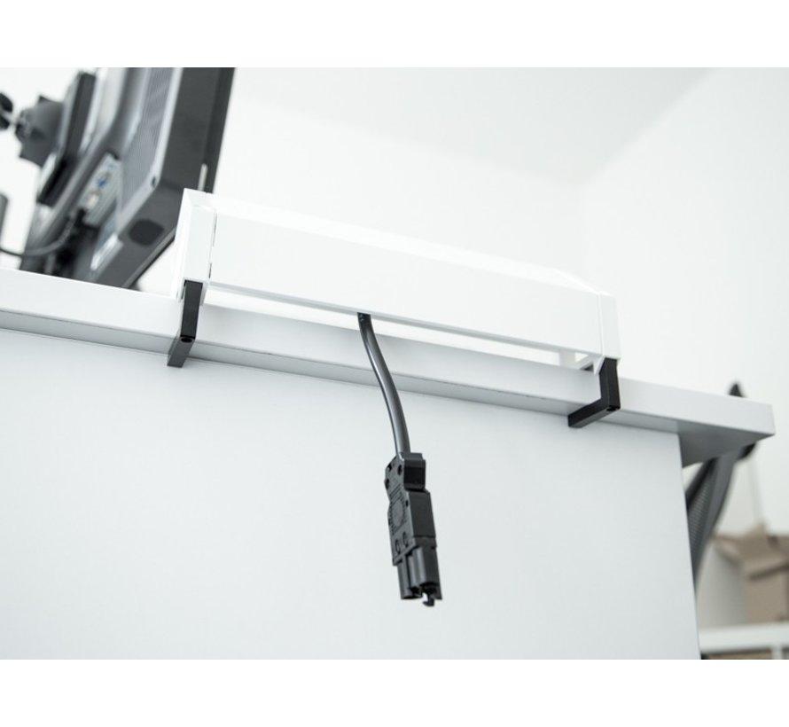 Bachmann Desk 2 Opbouw Stopcontact Met 2x 230V Stroom Aansluiting En 2 Custom Modules