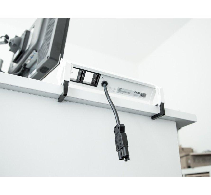 Bachmann Desk 2 Opbouw Stopcontact Met 3x 230V Stroom Aansluiting En 2 Custom Modules