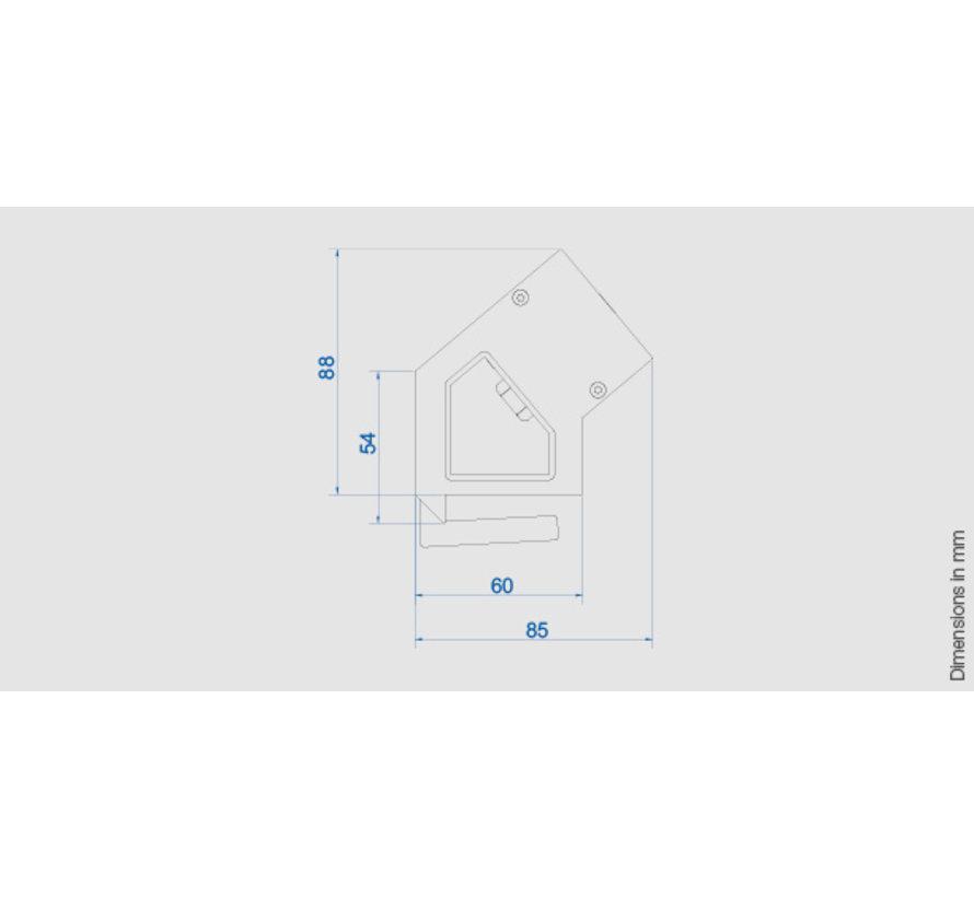 Bachmann Desk 2 Opbouw Stopcontact Met 3x 230V Stroom Aansluiting En 3 Custom Modules