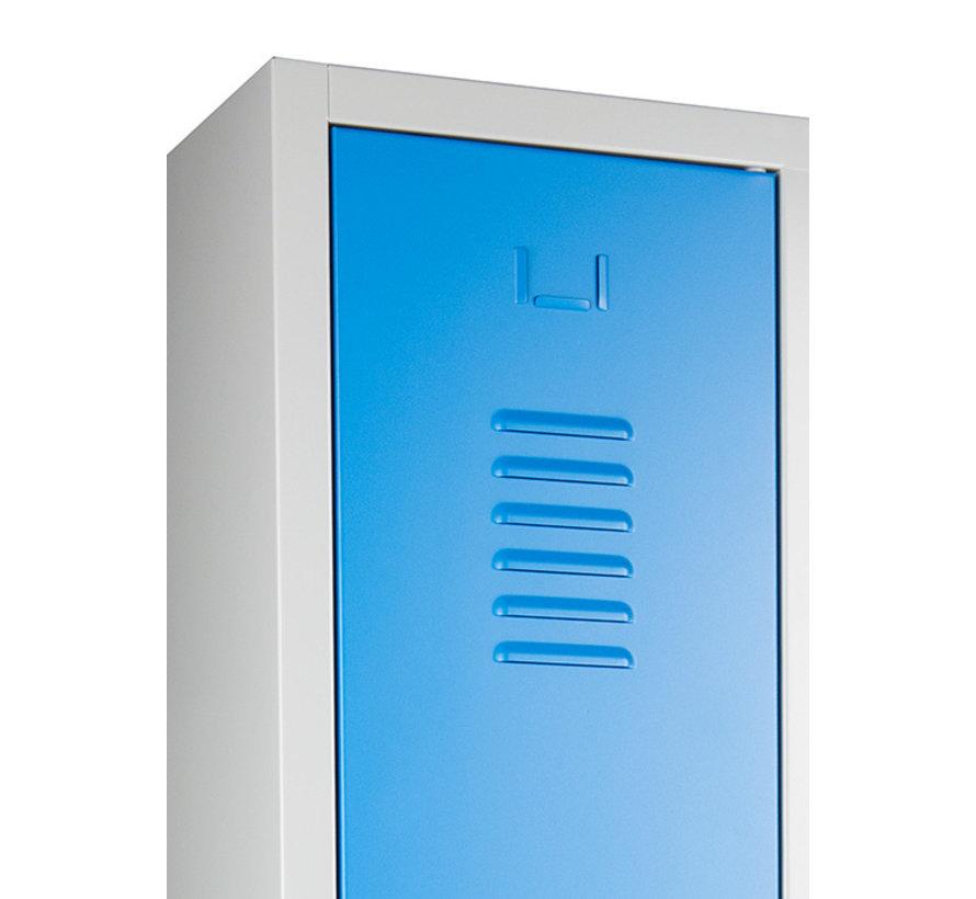 2-Deurs Lockerkast Met Ventilatiegleuven In De Deuren