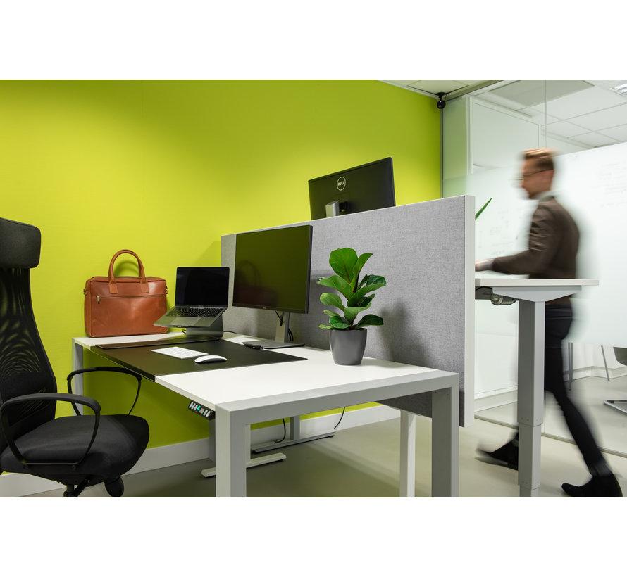 Akoestische Bureaudivider Op Voetstel Voor Plaatsing Tussen Bureaus