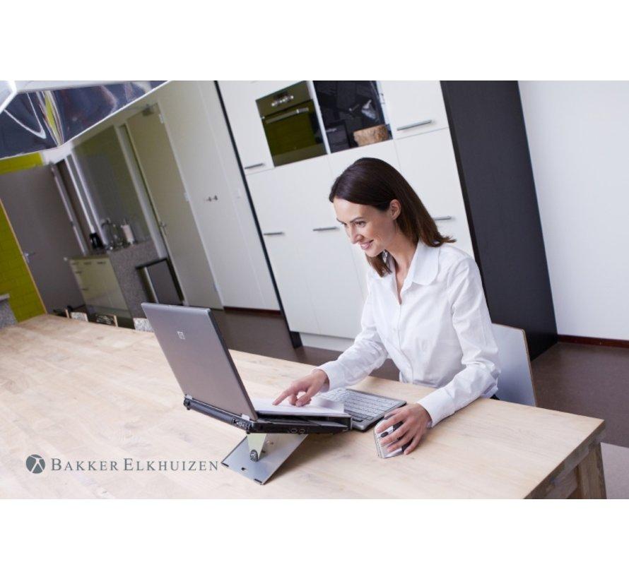 Ergo-Q 260 Aluminium Laptopstandaard Met Documenthouder