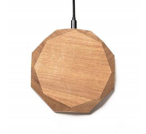 Oakywood Houten draadloze telefoonlader met polygoon ontwerp