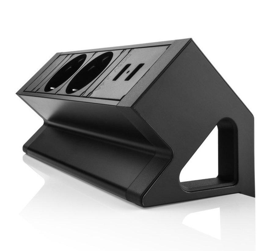 Filex Power Desk Up 2.0 Voorzien Van 2x230v Aansluiting 2x USB-A Charger