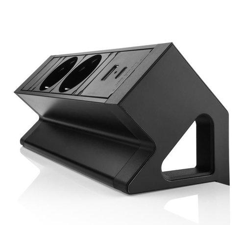Filex Workspace Solutions Filex Power Desk Up 2.0 Voorzien Van 2x230v Aansluiting, 1x USB-A & 1x USB-C Charger