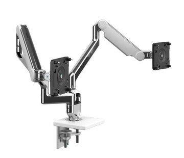 Humanscale M2.1 Dubbele Mechanisch Geveerde Monitorarm