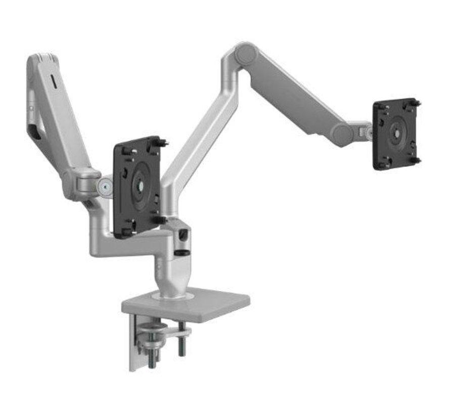 Humanscale M2.1 Dubbele Monitorarm Met Mechanische Veren