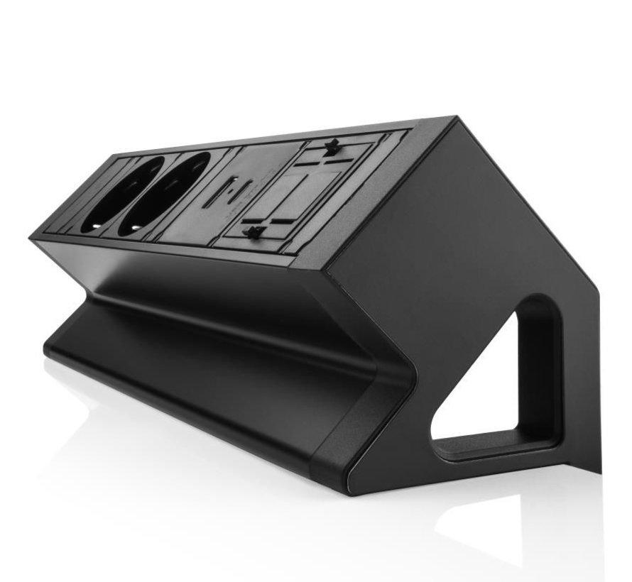 Filex Power Desk Up 2.0 Voorzien Van 2x230v, 2x leeg & 1x USB A+C Charger