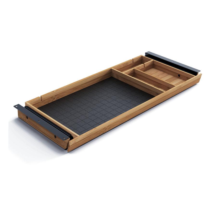 Bamboe Pennenlade Voor Onder Een Bureaublad