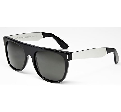 Retrosuperfuture zonnebrillen SUPER Flat Top Francis Black Silver