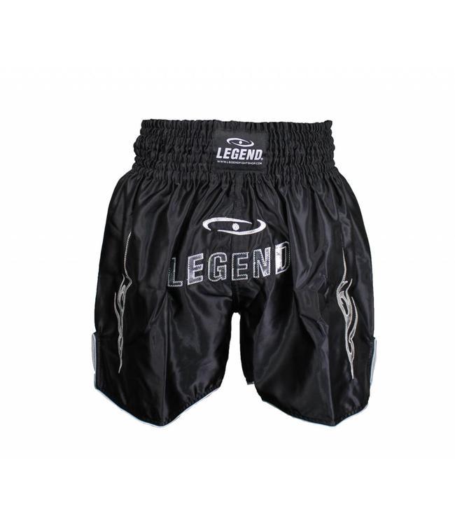 Legend Trendy, lang Model (kick)boks broekje Zilver