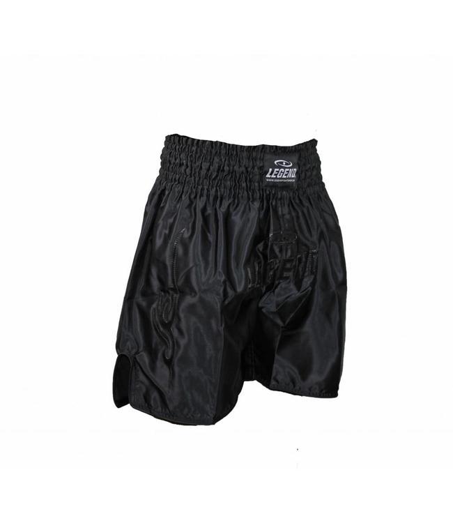 Legend Trendy, lang Model (kick)boks broekje Zwart