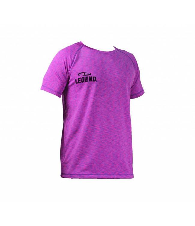 Legend Sports Sportshirt dames Legend DryFit Paars melange