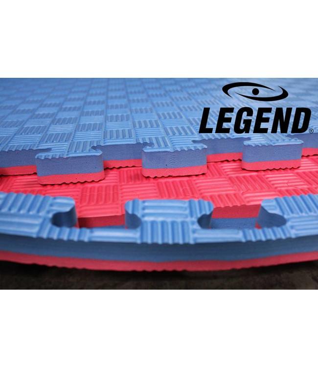Legend Puzzelmat sport 2CM Blauw/Rood