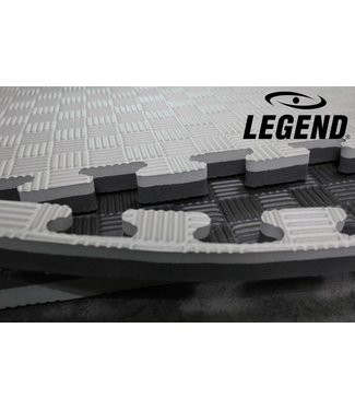 Legend Sports Puzzelmat | Grijs / Zwart | 100 x 100 x 2 cm