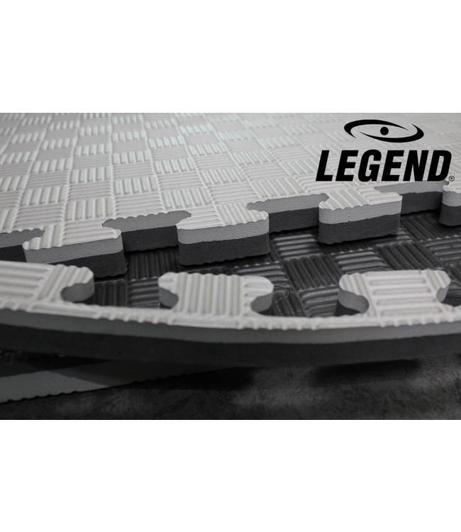 Legend Puzzelmat sport 2CM Zwart/Grijs