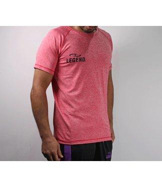 Legend Sports Sportshirt Legend DryFit Rood melange