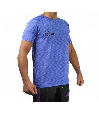 Legend Sports Sportshirt Legend DryFit Blauw melange