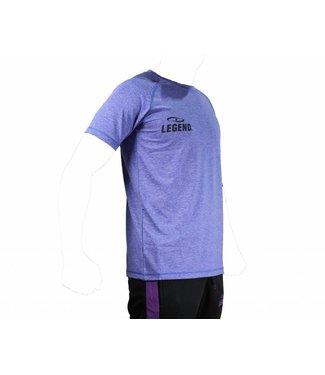 Legend Sports Sportshirt Legend DryFit blauw/grijs melange