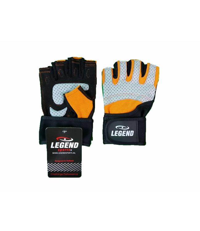 Legend Sports Fitness Handschoenen Legend Grip Oranje/Grijs