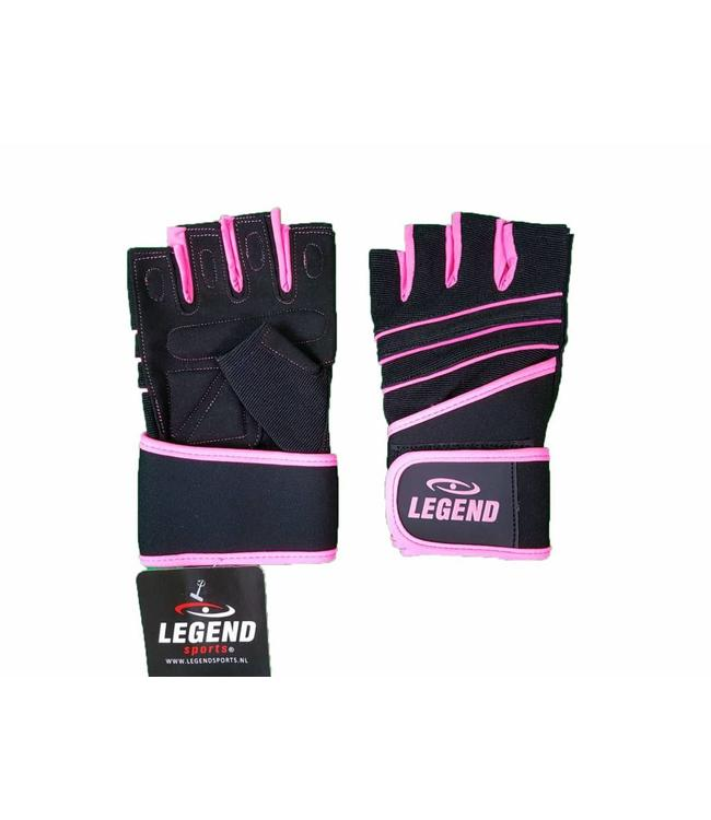 Fitness Handschoenen dames Legend Grip Roze