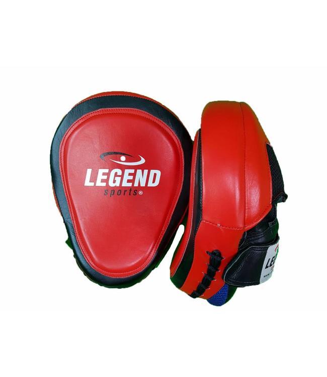 Legend Sports Focus Pads leder Heavy Duty Gel Rood