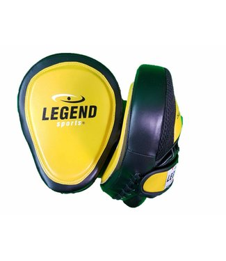 Legend Sports Focus Pads Leder Heavy Duty Gel Geel