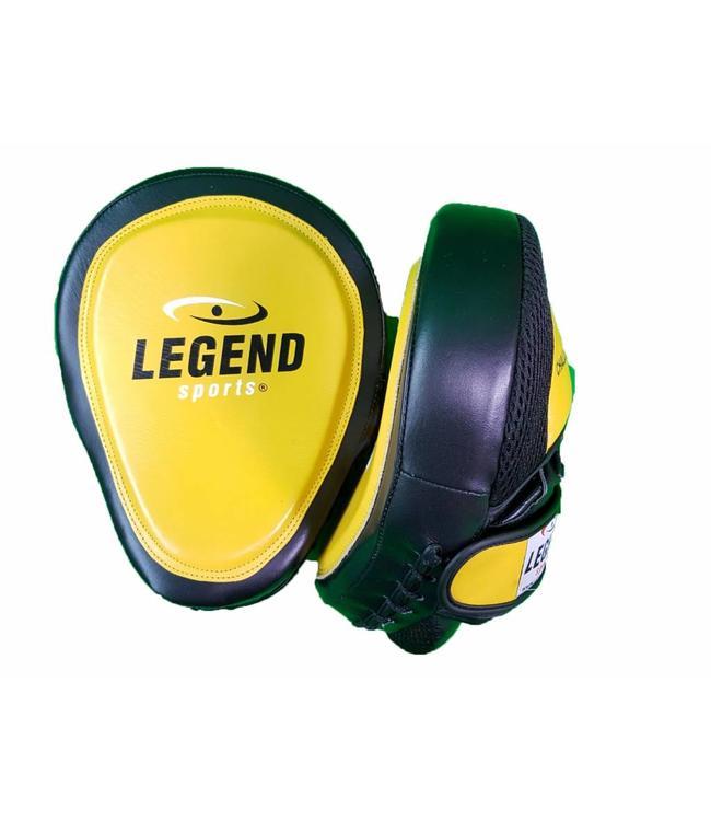Legend Sports Focus Pads Leder Heavy Duty Gel Geel