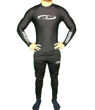 Legend DryFit shirt / mma rashguard lange mouwen zwart